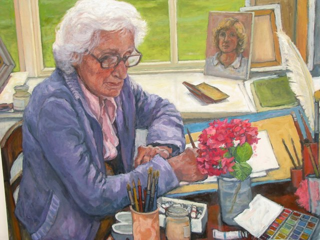 A painting of Wendy Walsh, painted by her daughter Lesley Fennell