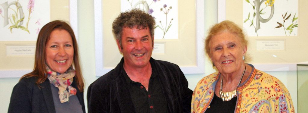 Dr Shirley Sherwood with Holly Somerville and Brendan Sayers