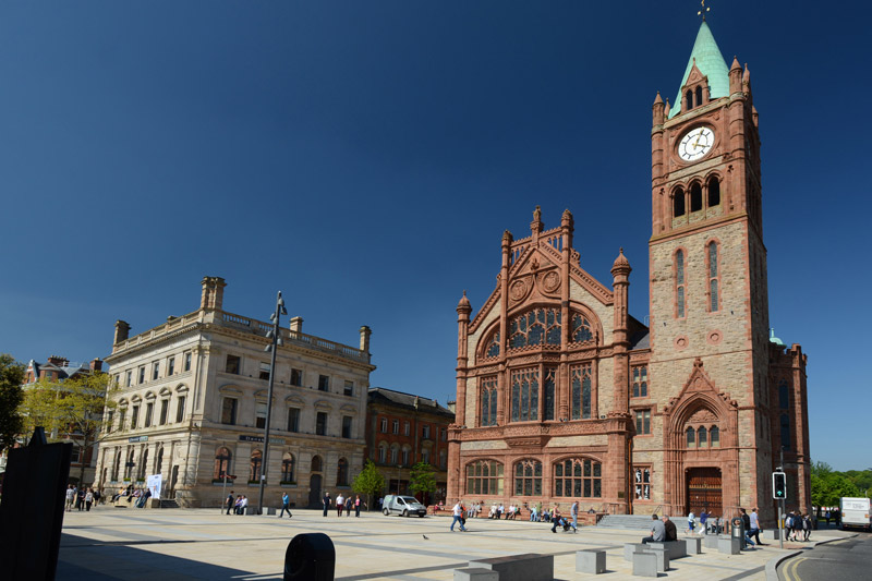 The new Guildhall exterior, Derry