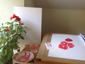 Yeats painting - work in progress
