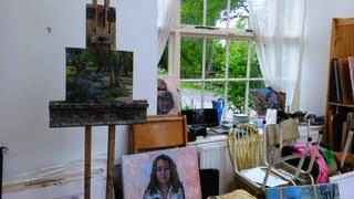 interior of studio, Burtown