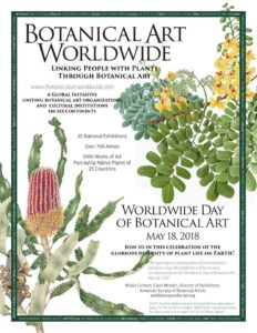 Poster for Worldwide Day of Botanical Art