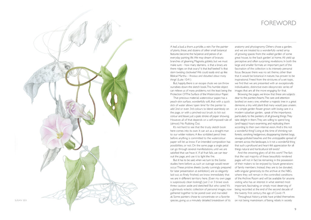 Image of two page spread of Foreword by Susan Sex
