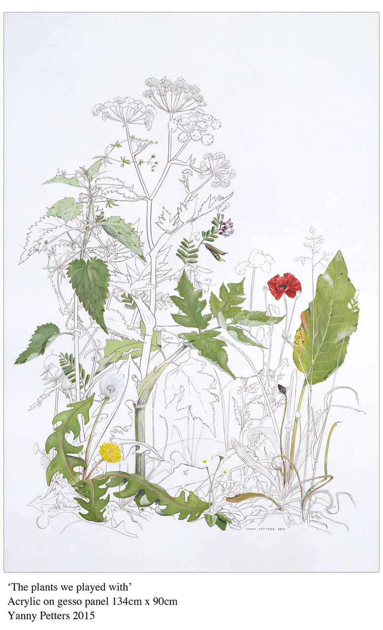 Image of the Yanny Petters painting, The Plants We Played With